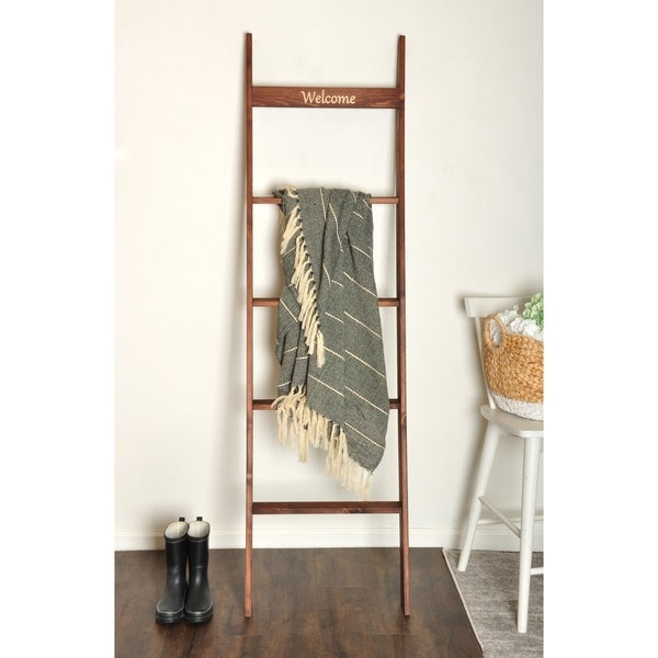 Engraved 6ft Decorative Blanket Ladder - 20 x 72