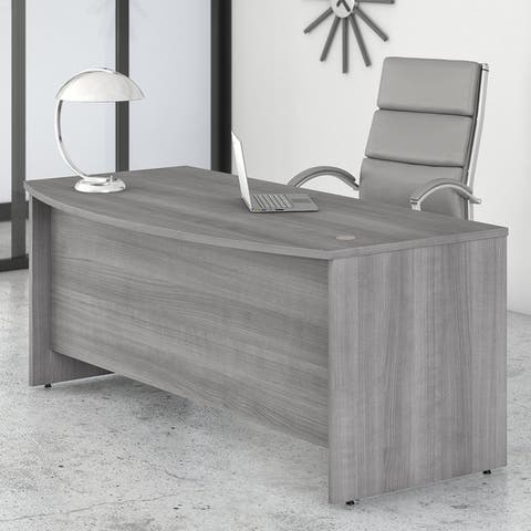 Studio C 72W x 36D Bow Front Desk by Bush Business Furniture