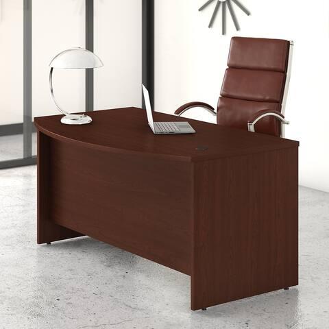 Studio C 60W x 36D Bow Front Desk by Bush Business Furniture