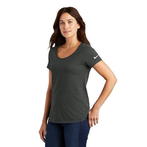 Nike Women's Dri-FIT Cotton/Poly Scoop Neck Tee