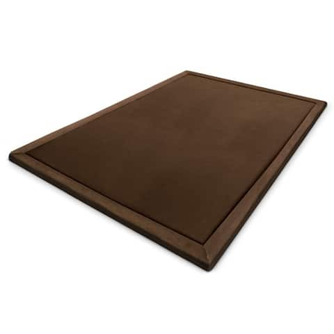 MICRODRY Cushioned Modern Memory Foam Area Rug with Built in Rug Pad - Easy Clean - Stain & Fade Resistant, 5' x 7'