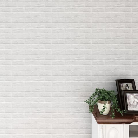 "3D Brick Pattern Sticker For Wall Decor,MultiColor Option,24""x24""/pc"