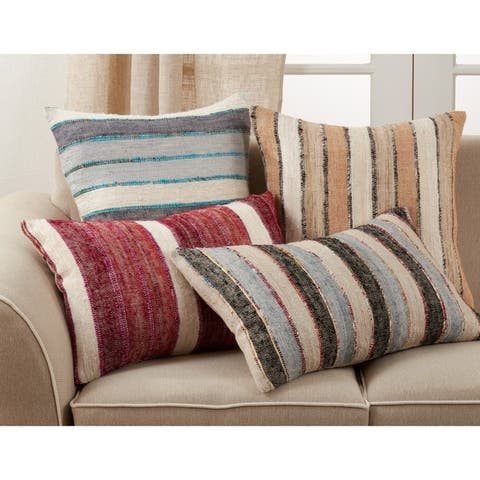 Throw Pillow with Striped Design