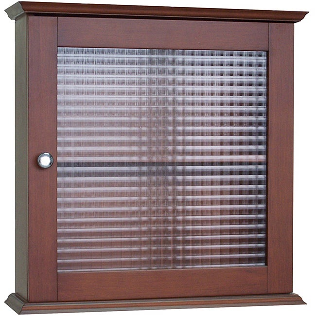 windham medicine cabinet with glass door by elegant home fashions free shipping today. Black Bedroom Furniture Sets. Home Design Ideas
