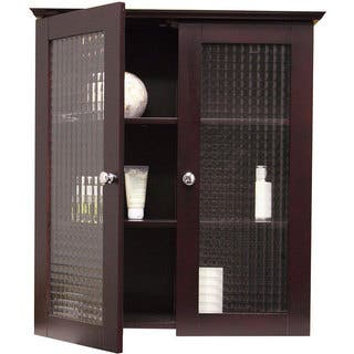 Windham Wall Cabinet with Two Glass Doors by Essential Home Furnishings|https://ak1.ostkcdn.com/images/products/3082726/P11217065.jpg?impolicy=medium