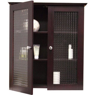 Windham Wall Cabinet with Two Glass Doors by Essential Home Furnishings