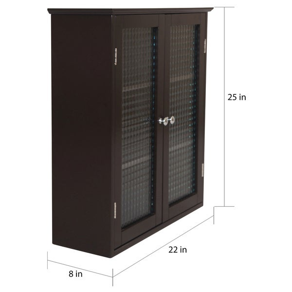 Windham Wall Cabinet with Two Glass Doors by Essential Home ...