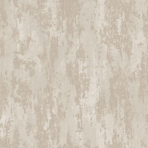 Industrial Texture Beige and Gold Wallpaper