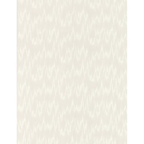 Flame Stitch White Paintable Wallpaper