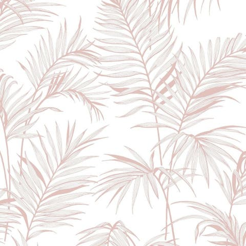 Litho Tropical Pink Wallpaper