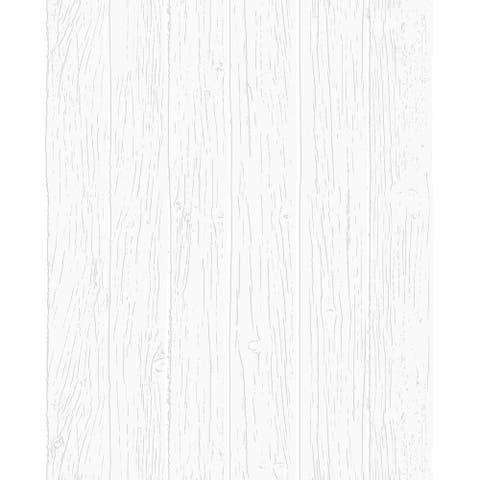 Woodwork White Paintable Wallpaper