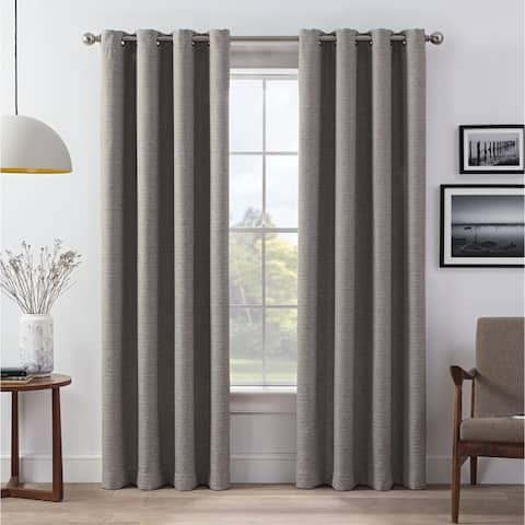 Eclipse Wyckoff Blackout 2 Pack Window Curtains