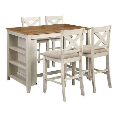 Century Bar Height Wooden Dining Set