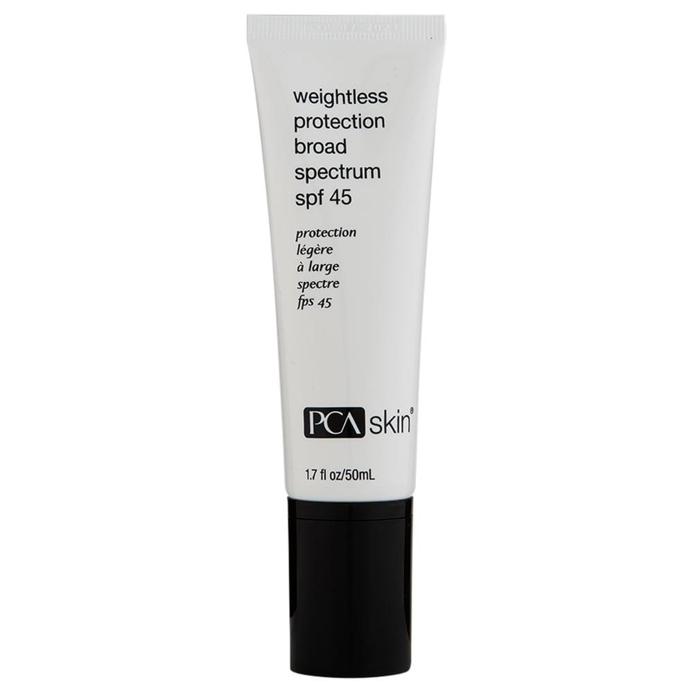 PCA Skin Weightless Protection Broad Spectrum SPF 45 1.7 oz (White/Black - Body Sunscreen)