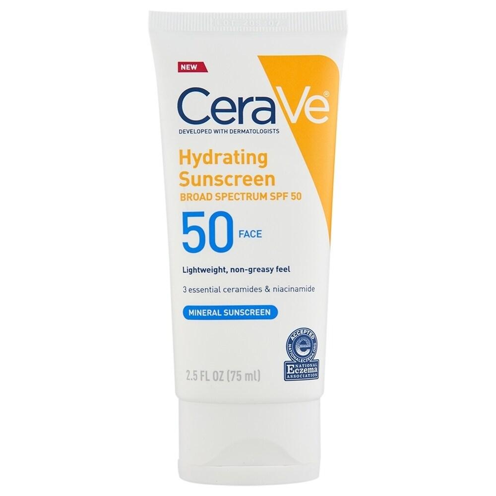 CeraVe Sunscreen Face Lotion SPF 50 2.5 oz (White - Facial Sunscreen)