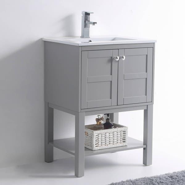 Shop Fine Fixtures Brooklyn Collection Bathroom Vanity Overstock 30827684 Grey 24 Inch,Clearest Water In The Us