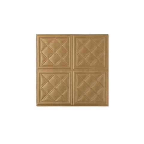 "3D LeatherLook Sticker For Wall Decor,4SquareDiamond,28""x28""/pc"