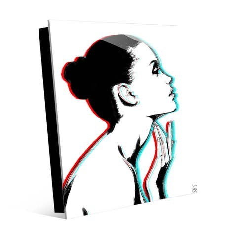 Kathy Ireland Stereo Profile Wall Art Print on Acrylic