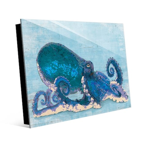 Kathy Ireland Dat Cool Blue Octopus Wall Art Print on Acrylic