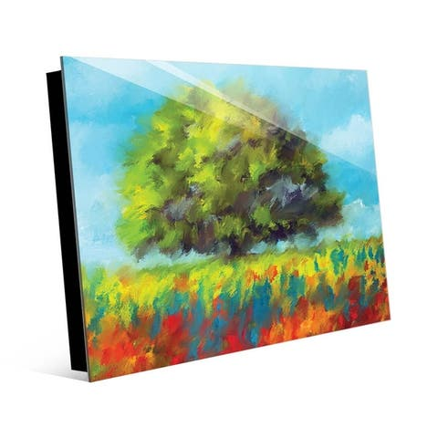 Kathy Ireland Color Brush Fields Landscape Wall Art Print on Acrylic