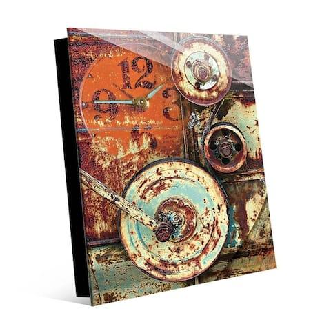 Kathy Ireland Industrial Wheels Wall Art Print on Acrylic