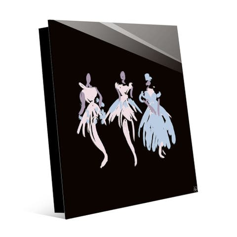 Kathy Ireland Ballerinas in Blush Wall Art Print on Acrylic