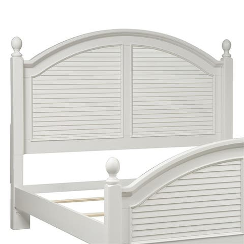 Summer House I Oyster White Queen Poster Headboard