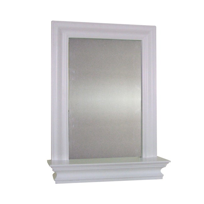 Elegant Home Fashions Kingston Wall Mirror with Shelf
