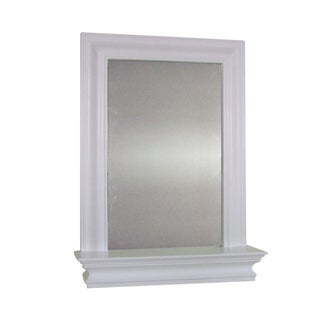 Essential Home Furnishings Kingston White Wall Mirror with Shelf
