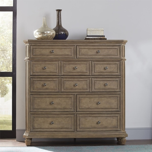 The Laurels Weathered Stone 8-drawer Chest