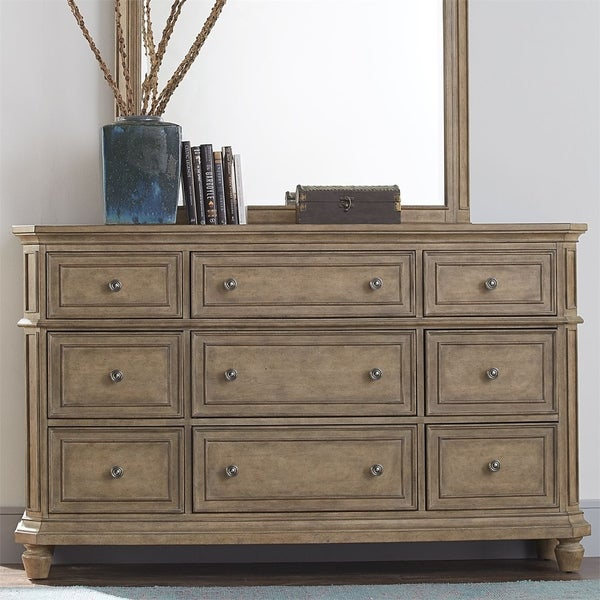 The Laurels Weathered Stone 9-drawer Dresser