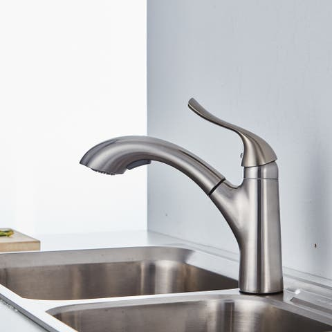 "CB HOME 8.63"" High Luxury Vessel Pull Out Touch Single Handle Kitchen Faucet"
