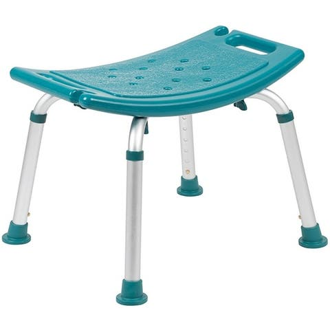 Offex Tool-Free and Quick Assembly, 300 Lb. Capacity, Adjustable Bath & Shower Chair with Non-slip Feet