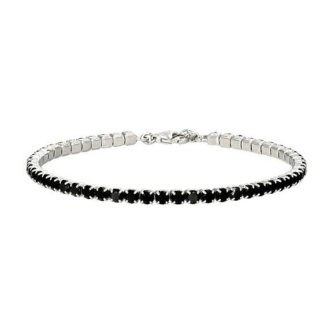 925 Sterling Silver Black Spinel Bracelet