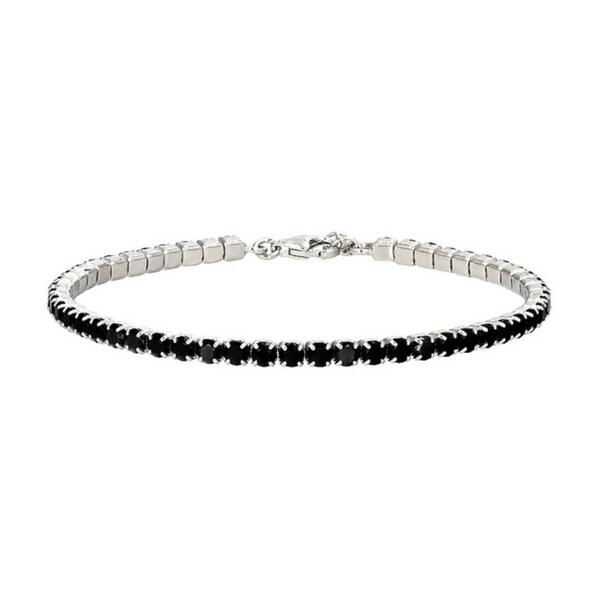 925 Sterling Silver Black Spinel Bracelet. Opens flyout.
