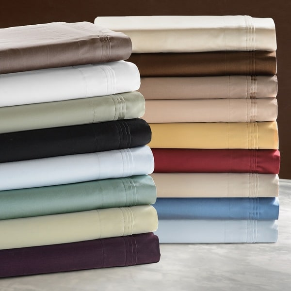 Superior 100-percent Premium Long-staple Combed Cotton 650 Thread Count Solid Color Pillowcase Set