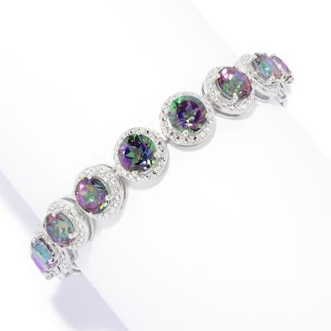 925 Sterling Silver Mystic Topaz Bracelet