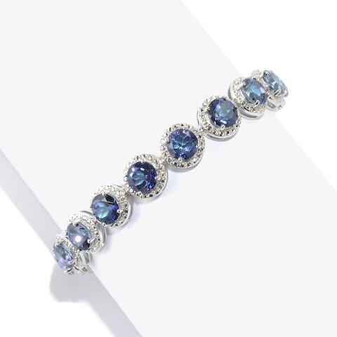 925 Sterling Silver Blue Quartz Bracelet