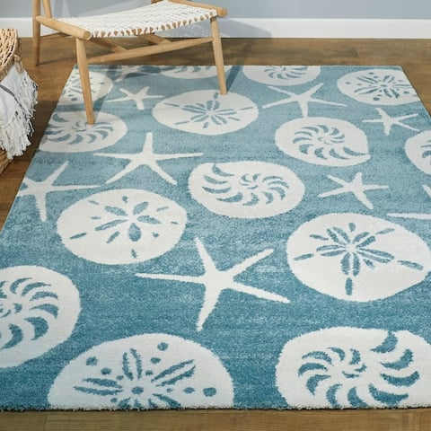Stafford Nautilus Medallion Coastal Area Rug