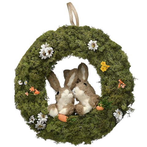 "15"" Wreath with Rabbits"