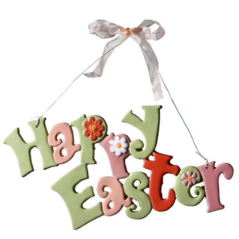 """Happy Easter"" Hanging Decoration"