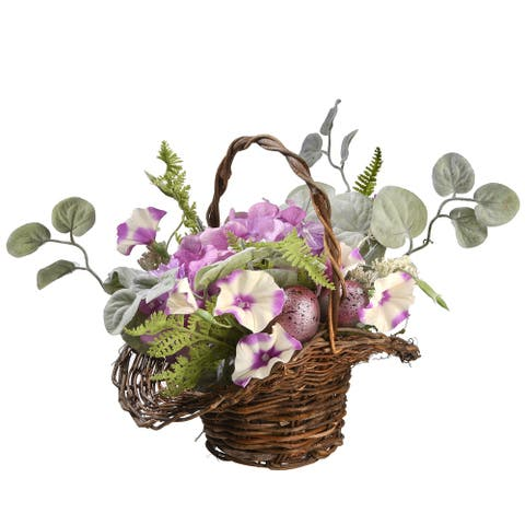 "16"" Spring Decorated Basket"