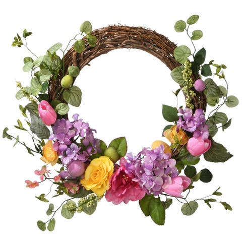 "22"" Decorated Easter Wreath"