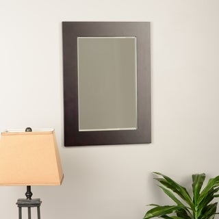 Elegant Home Fashions Boulevard Mahogany-finish Wood Wall Mirror