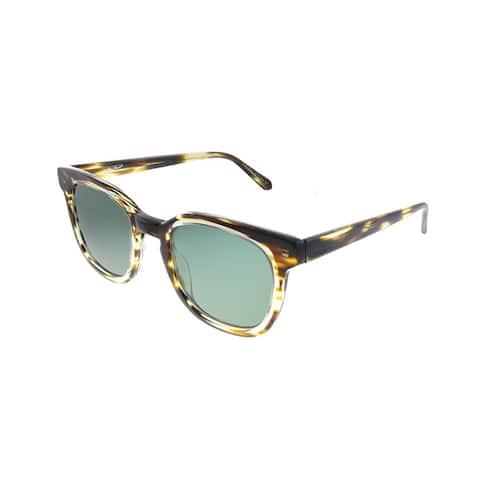 Original Penguin PE Suspender BR 49mm Unisex Brown Patina Frame Green Polarized Lens Sunglasses