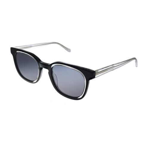 Original Penguin PE Suspender BK 49mm Unisex Black Frame Black Polarized Lens Sunglasses