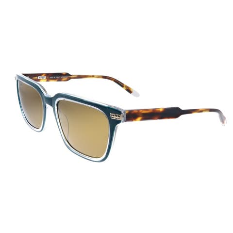 Original Penguin PE Suspender2.0 DN Unisex Faded Denim Frame Brown Polarized Lens Sunglasses