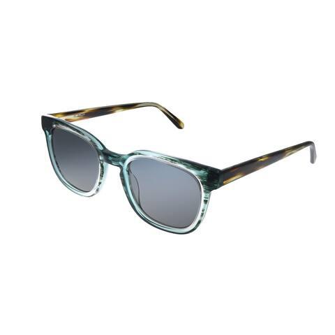 Original Penguin PE Suspender DN 49mm Unisex Faded Denim Frame Black Polarized Lens Sunglasses