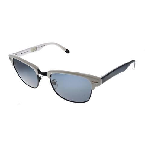 Original Penguin PE Highpockets P WH Unisex White Frame Black Polarized Lens Sunglasses