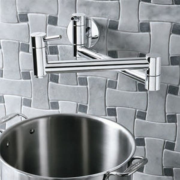 Shop Blanco Cantata 2 Handle Wall Mount Pot Filler Kitchen Faucet On Sale Overstock 30832110